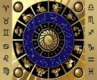 The twelve signs of the zodiac, the Zodiac Wheel or Circle of the Zodiac
