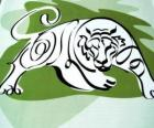 The tiger, the tiger sign, the Year of the Tiger. The third sign of the twelve animals of Chinese Zodiac