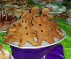 Full plate of gingerbread man cookies