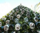 Christmas tree made of 5,000 recycled bottles