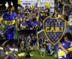 Boca Juniors, champion fo the tournament Apertura 2011, Argentina