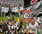 Corinthians, champion of the Brazilian football championship in 2011. Brasileirão 2011