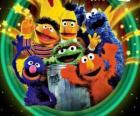 Various characters of Sesame Street
