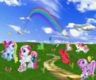 Ponies in the field
