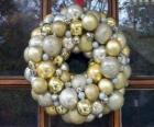 Crown of Christmas, made with balls