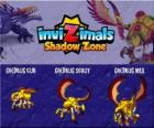 Goldbug Cub, Goldbug Scout, Goldbug Max. Invizimals Shadow Zone. Golden beetle comes from ancient Egypt of the Pharaohs. Invizimal fast and hard