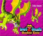Jungle Dragon. Invizimals Shadow Zone. Dragons of the jungle have a powerful weapon, an acid that spit against the enemy