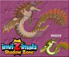 Mosasaur. Invizimals Shadow Zone. Authentic sea monster with powerful fins and strong jaws