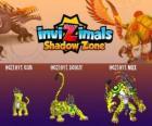 Ocelotl Cub, Ocelotl Scout, Ocelotl Max. Invizimals Shadow Zone. Spirit of the jaguar warrior from the ancient Maya