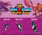 Orca Cub, Orca Scout, Orca Max. Invizimals Shadow Zone. Spirit of the deep beautiful and playful