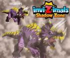 Triceratops. Invizimals Shadow Zone. Invizimals herbivore with large strength and bravery