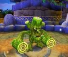 Skylander Stump Smash, the hammer creature has wooden logs instead of arms. Skylanders Life