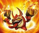 Skylander Trigger Happy, the king of the trigger. Tech Skylanders