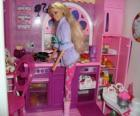 Barbie in the kitchen