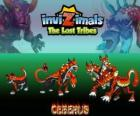 Cerberus, latest evolution. Invizimals The Lost Tribes. Fearsome and terrible three-headed dog