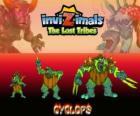 Cyclops, latest evolution. Invizimals The Lost Tribes. The giant with one eye is kind but also can be brutal