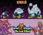 Erebus, latest evolution. Invizimals The Lost Tribes. Mythical creature of the Antarctic which seems a mountain of ice