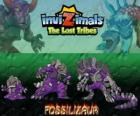 Fossilizaur, latest evolution. Invizimals The Lost Tribes. Invizimal that lives in caves and to survive can change skin color at will