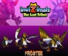 Frostee, latest evolution. Invizimals The Lost Tribes. Cheerful and optimistic penguin who wants to live new adventures