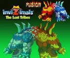 Fusion. Invizimals The Lost Tribes. Very rare creature born from the union of two opposite, heat and cold