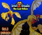 Gold Dragon. Invizimals The Lost Tribes. Dragon of gold with four wings that shines more than the Sun