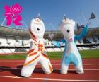 The mascots of the Olympic Games and 2012 London Paralympics are Wenlock and Mandeville