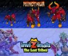 Minotaur, latest evolution. Invizimals The Lost Tribes. Dangerous and ferocious invizimal who has escaped from the maze