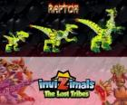 Raptor, latest evolution. Invizimals The Lost Tribes. Dangerous hunter that is fast, smart, aggressive