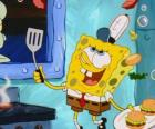 Bob Esponja working