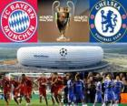 Bayern Munich vs Chelsea FC. Final UEFA Champions League 2011-2012. Allianz Arena, Munich, Germany