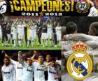 Real Madrid, champion of the spanish football league 2011-2012