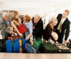 Several people collecting your baggage