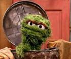 Oscar in his dustbin