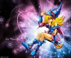 The dark magician girl is another form that Pegasus uses against Kaiba
