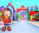 Noddy is a child made of wood that lives in a small house in Toyland, the city of toys