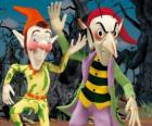 Sly and Gobbo, the mischievous goblins in Noddy's adventures