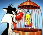 Sylvester and Tweety Bird
