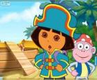 Dora the explorer, the pirate captain