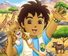 Diego and Baby Jaguar help the animals in danger in the serie Go, Diego, Go!