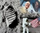 Neil Armstrong (1930-2012) was a NASA astronaut and the first human to set foot on the moon on July 21, 1969, in the Apollo 11 mission
