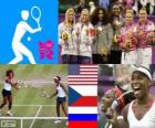 Women's double tennis London 2012
