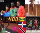 Athletics men's 400 m London 2012