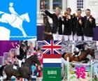 Equestrian team jumping London 2012