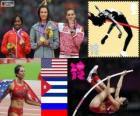 Women's pole vault London 2012