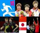 table tennis women's team London 2012