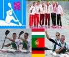 Men's canoe sprint K2 1000m London 2012