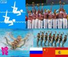 Synchronized swimming team London 2012