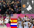 Men's basketball podium London 2012