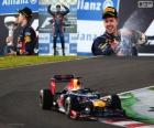 Sebastian Vettel celebrates victory at the Grand Prix of Japan 2012