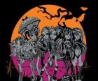 The Monster High on the night of Halloween